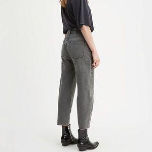 NWT Levi's Barrel Crop Jeans Black 28